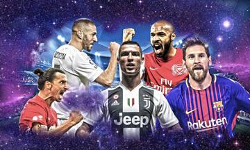 UEFA Champions League: Τα 10 κορυφαία «κανόνια» της διοργάνωσης!