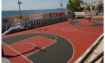 Aνακατασκευάστηκε πλήρως το γήπεδο μπάσκετ τoυ Πορφύρα στον Πειραιά