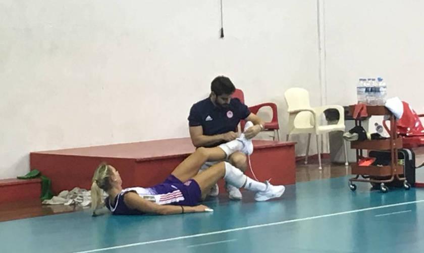Ο Ολυμπιακός με μπλε και ο τραυματισμός της Χίπε (vids, pics)