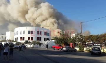 Ηράκλειο: Μεγάλη φωτιά στο Πανεπιστήμιο