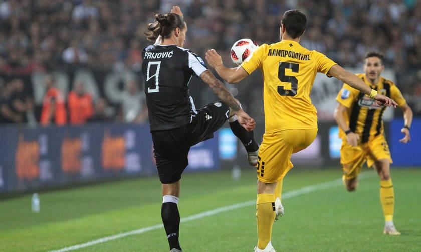 Το γκολ του Πρίγιοβιτς για το 1-0 του ΠΑΟΚ επί της ΑΕΚ (vid)
