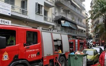 Θεσσαλονίκη: Πυρκαγιά στην Αγία Τριάδα