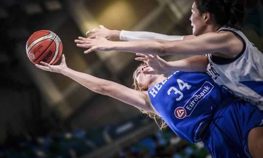 Μουντομπάσκετ: Νίκη-πρόκριση επί της Κορέας για την Eθνική Γυναικών