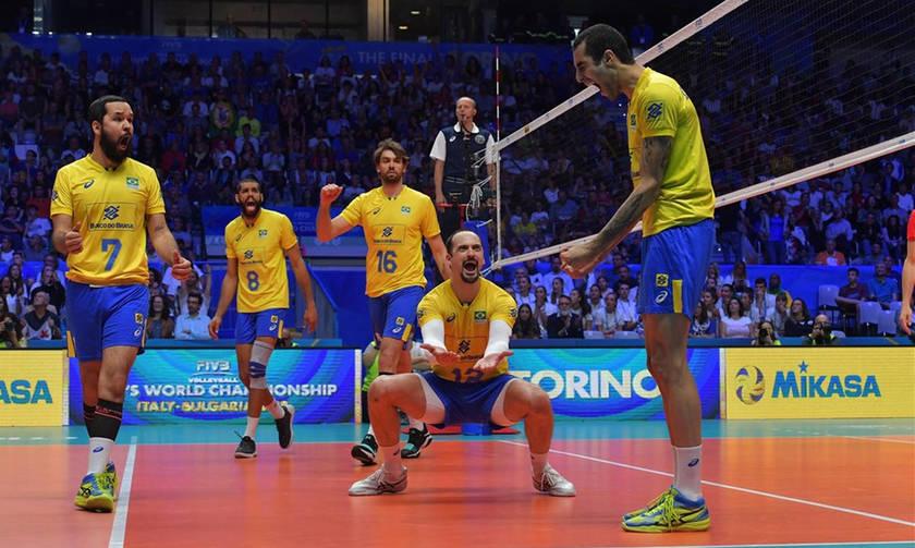 Πρώην παίκτης του Ολυμπιακού οδηγεί τη Βραζιλία στο Παγκόσμιο Πρωτάθλημα Βόλεϊ-pics-vid