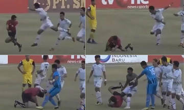 Ινδονησία: Διαιτητής σφύριξε πέναλτι και τις άρπαξε για τα καλά...