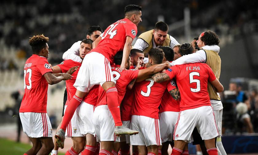 Τα γκολ του ημιχρόνου στο ΑΕΚ-Μπενφίκα 0-2 (vids)