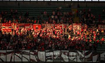 Οι πανηγυρισμοί των 6000 οπαδών του Ολυμπιακού στο γκολ του Γκερέρο