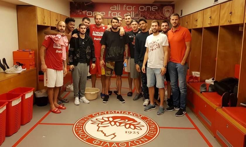 H Ένωση Παικτών της EuroLeague στο ΣΕΦ με τους παίκτες του Ολυμπιακού