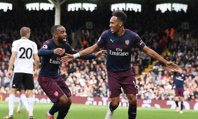 Premier League: Καταιγιστική στην επανάληψη η Άρσεναλ, 1-5 τη Φούλαμ