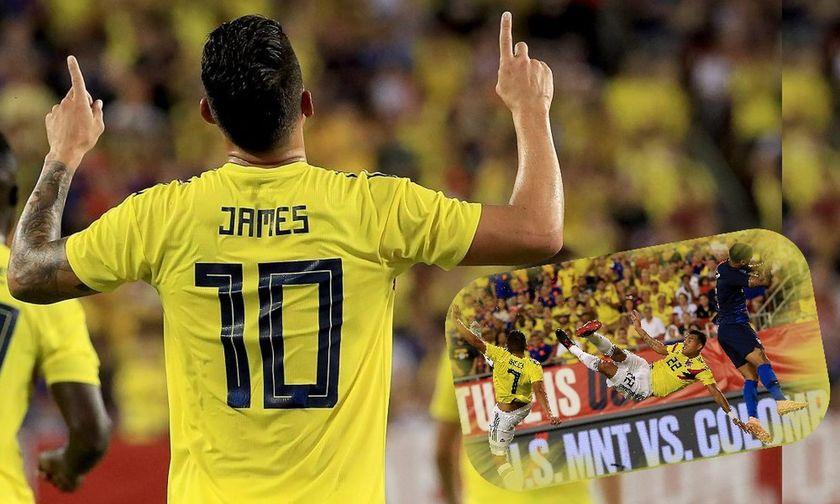 ΗΠΑ - Κολομβία 2-4: Δείτε το γκολ - ποίημα του Χάμες Ροντρίγκες αλλά και του Μπόρχα (vids)