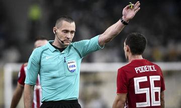 Πως έζησε  ο διαιτητής Κριστόφερσεν το ματς ΑΕΚ - Ολυμπιακός