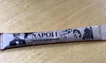 Σάλος στη Νάπολη από ζάχαρη ελληνικής εταιρείας με εικόνα του «Νονού» και του Μαραντόνα