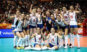 Η Σερβία έκανε άλμα για την τετράδα του Παγκοσμίου Πρωταθλήματος Βόλεϊ Γυναικών(pics)