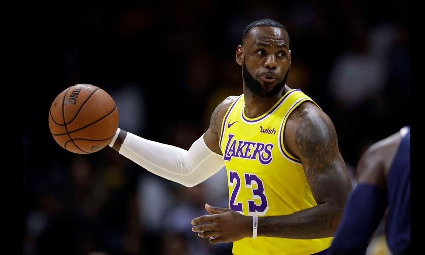 Δείτε τι έκανε ο Lebron James στο ντεμπούτο του με τη φανέλα των Lakers (vid)