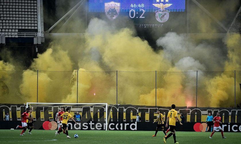 H UEFA απειλεί την ΑΕΚ με τιμωρία κεκλεισμένων των θυρών