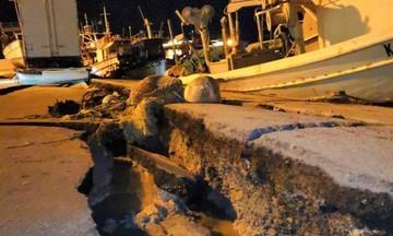 Ζάκυνθος: Ανοιξε στα... δύο το λιμάνι από τον ισχυρό σεισμό - Οι πρώτες εικόνες