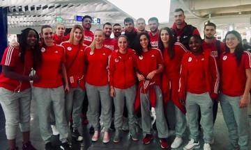 Ολυμπιακός: Συναντήθηκαν στο αεροδρόμιο οι αποστολές ανδρών και γυναικών! (pic)