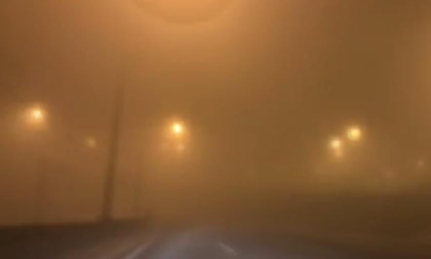«Χάθηκε» η Αττική οδός - Εντονη ομίχλη - Δείτε εικόνες