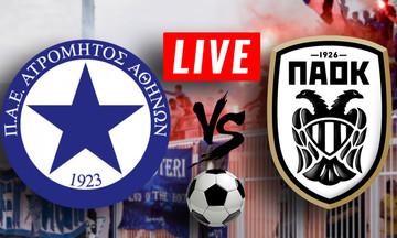 LIVE: Ατρόμητος - ΠΑΟΚ (16:00)