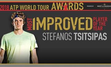 Βραβεία ATP: Πιο βελτιωμένος παίκτης της χρονιάς ο Τσιτσιπάς! (pic)
