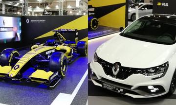 To Megane RS και το μονοθέσιο της F1 στο περίπτερο της Renault!