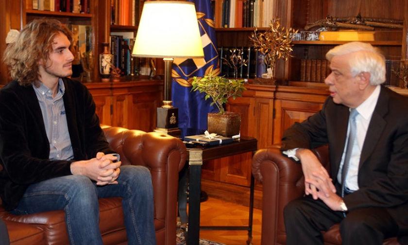 Ο Στέφανος Τσιτσιπάς στον Πρόεδρο της Δημοκρατίας- Τι ειπώθηκε μεταξύ τους...