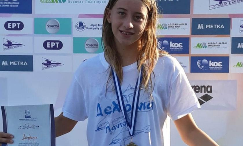 Μεγάλο πανελλήνιο ρεκόρ από κολυμβήτρια του Ολυμπιακού