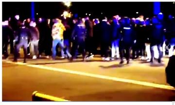 Δείτε πως παρακολουθεί η Αστυνομία τους οπαδούς του Ολυμπιακού στη Σεβίλλη (vid)