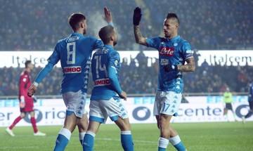 Serie A: Ο Μίλικ έσωσε τη Νάπολι στο Μπέργκαμο (αποτελέσματα, βαθμολογία)