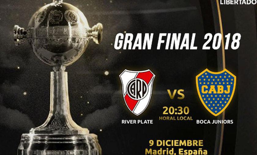 Copa Libertadores: Την Τετάρτη στη Μαδρίτη η Ρίβερ, μυστήριο με Μπόκα