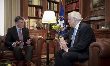 Συνάντηση του Προέδρου της Δημοκρατίας με τον Πρόεδρο της IAAF