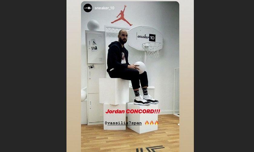 O Σπανούλης σε ρόλο μοντέλου για τα νέα παπούτσια Τζόρνταν