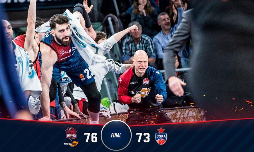 Η Μπασκόνια 76-73 την ΤΣΣΚΑ! (vid)