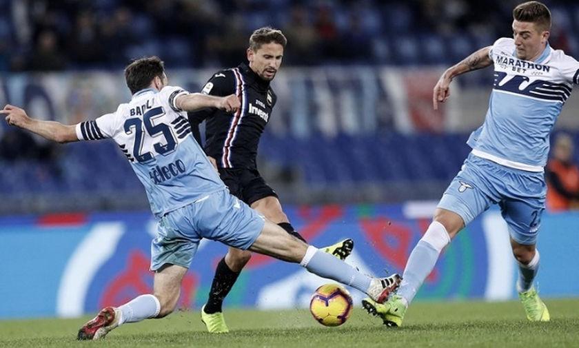 Τρομερό ματς στη Ρώμη, ισοπαλία για Λάτσιο και Σαμπντόρια