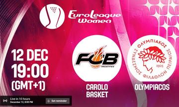 LIVE: Καρόλο - Ολυμπιακός (20:00)