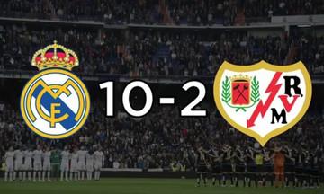Ρεάλ Μαδρίτης-Ράγιο Βαγιεκάνο: Από το 10-2... στο δεν γνωρίζει κανείς πως θα αντιδράσει