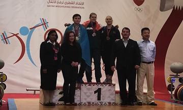 Τρία μετάλλια κατέκτησε η Κωνσταντινίδη στο Παγκόσμιο Κύπελλο