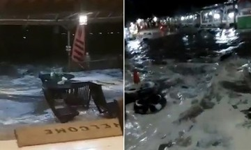 Tσουνάμι στην Ινδονησία: 62 νεκροί - Βίντεο από συναυλία την ώρα που παρασύρει τα πάντα το νερό