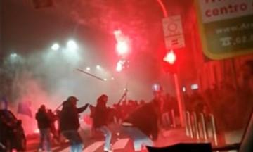 Ίντερ - Νάπολι: Ανατριχιαστικό βίντεο από τις συμπλοκές
