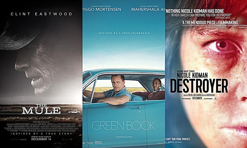 Νέες ταινίες: «Το Βαποράκι», «Το Πράσινο Βιβλίο», «Destroyer»