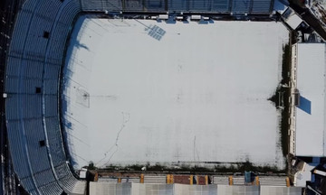 Το εντυπωσιακό βίντεο του Απόλλωνα Σμύρνης από τη χιονισμένη Ριζούπολη