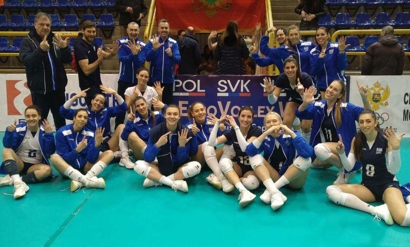 Έκανε το «έξι στα έξι» η Εθνική Γυναικών, 3-0 και το Μαυροβούνιο!