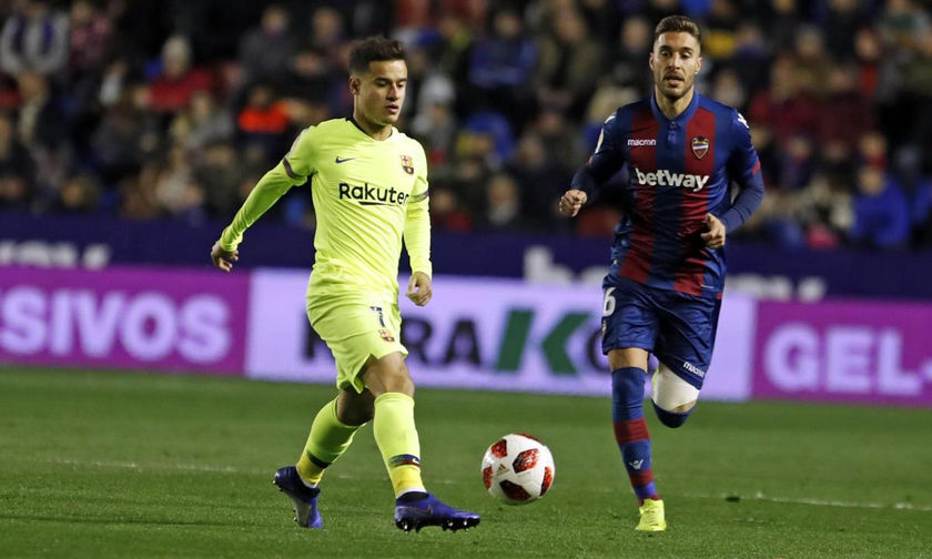 Copa del Rey: Ηττήθηκε με 2-1 η Μπαρτσελόνα από την Λεβάντε