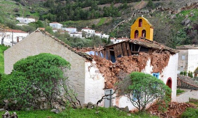 Κατέρρευσε ιστορικός ναός στην Ύδρα