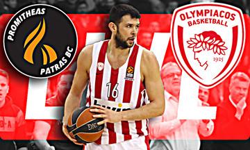LIVE: Προμηθέας Πατρών - Ολυμπιακός (17:00)