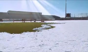 Κανονικά ή όχι το Αστέρας - ΠΑΟΚ; Δείτε σε βίντεο και φωτογραφίες πόσο καθάρισε το γήπεδο