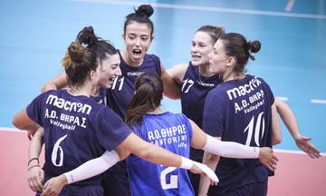 «Διπλό» του ΑΟ Θήρας στα Μεσόγεια, φινάλε στον α' γύρο της Volley League