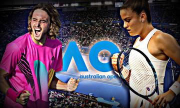 Australian Open: Oι αντίπαλοι Τσιτσιπά και Σάκκαρη στον 3ο γύρο