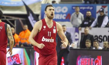 MVP της 14ης αγωνιστικής της Basket League ο Νίκολα Μιλουτίνοφ