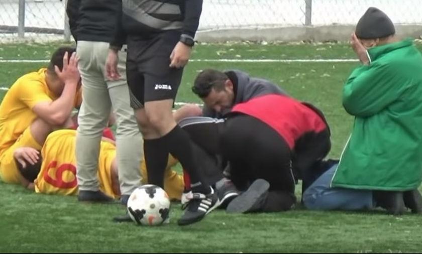 Ο σοβαρός τραυματισμός παίκτη του Απόλλωνα Ρεθύμνου (vid)
